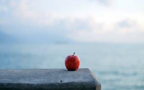 Picture background, Apple, minimalism
