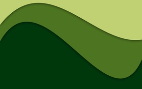 Picture line, abstraction, green, green