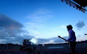 Picture the crowd, guitar, concert, rock, linkin park, Bradford Philip Delson