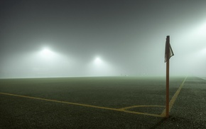 Picture fog, sport, the box, field