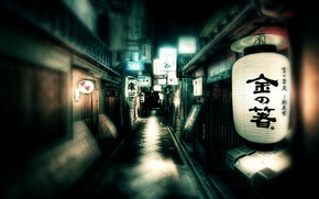 Picture street, Japan, lights