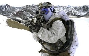 Picture weapons, United States Navy SEALs, army, soldiers