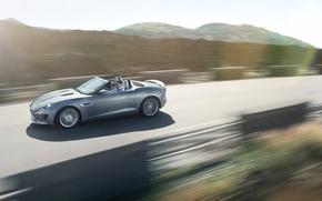 Picture road, grey, movement, Jaguar, convertible, jaguar, f-type