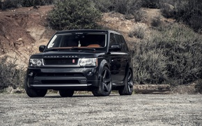 Picture sport, black, land rover, range rover, tuning