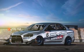Picture Mitsubishi, Photoshop, silvery, Lancer 10, Hugo Silva