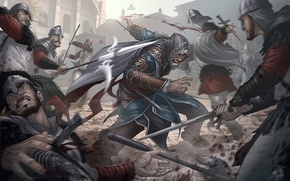 Picture weapons, assassins creed, art, revelations, cloaks, Patrick Brown, guards