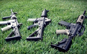 Picture m4a1, ar-15, Machines, assault rifles, weed