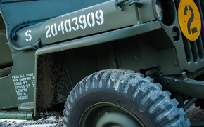 Picture car, army, Jeep, Willys MB
