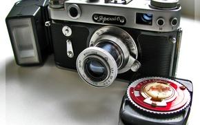 "Picture background, the flash, camera Zorki 6"", the meter ""Leningrad 2"""