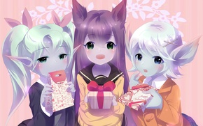 Picture gift, anime, art, girl, ears