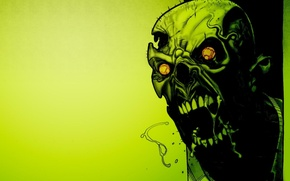 Picture green, green, Skull, zombies, horror, toxic, zombie