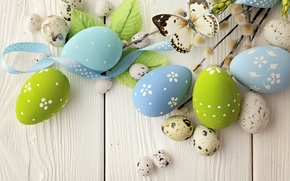 Picture flowers, eggs, spring, Easter, Verba, flowers, spring, Easter, eggs, decoration, Happy, willow