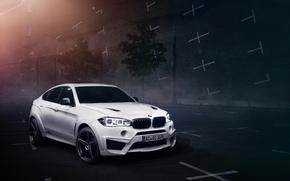 Picture car, night, bmw, tuning, falcon, ac schnitzer, x6m