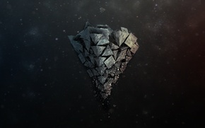 Picture stone, pyramid, fly