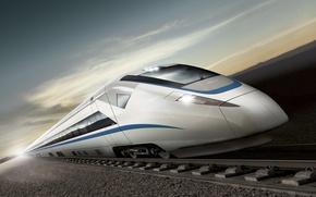Picture rails, train, speed