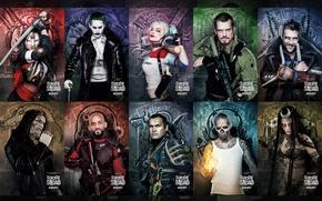 Picture Slipknot, Joker, Will Smith, Jared Leto, Movie, Katana, Deadshot, Harley Quinn, Jai Courtney, Cara Delevingne, ...