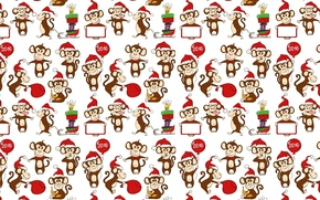 Picture background, holiday, texture, New year, monkey, 2016
