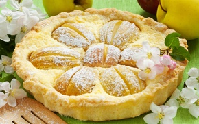 Picture pie, cake, cakes, pastries, Apple flowers, Apple flowers