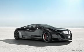 Picture Desert, Sky, Black Car, BMW Z5
