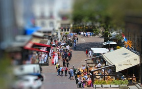 Picture people, street, blur, cafe, Europe