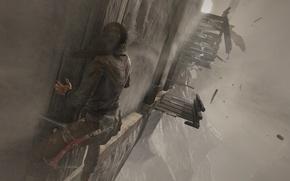 Picture mountains, the wind, screenshot, lara croft, tomb raider