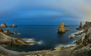 Picture sea, landscape, rocks