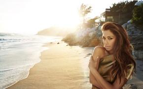 Picture sand, beach, Nicole Scherzinger, singer, Nicole Scherzinger, celebrity
