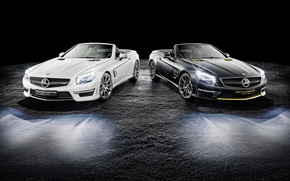 Picture Roadster, Mercedes-Benz, Roadster, black background, Mercedes, AMG, R231, SL-Class