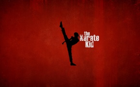 Picture red, background, sport, silhouette, kung fu, Jaden Smith, Jaden Smith, The Karate Kid, The karate ...