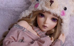 Picture hat, toy, doll