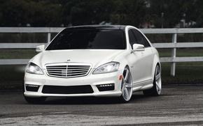 Picture white, Mercedes-Benz, white, Mercedes Benz, S 63, S Class