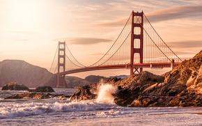 Picture Bridge, America, USA, San Francisco