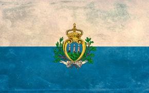 Picture texture, flag, San Marino, San Marino