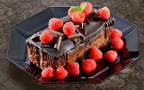 Picture Chocolate, Sweets, Cake, Raspberry