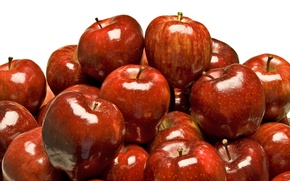 Picture apples, red, fruit, a lot