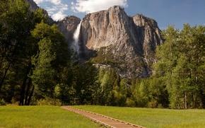 Picture nature, rock, Park, photo, waterfall, USA, Yosemite