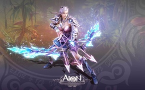 Picture girl, bow, arrows, AION