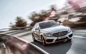 Picture silver, Mercedes Benz, AMG, C63