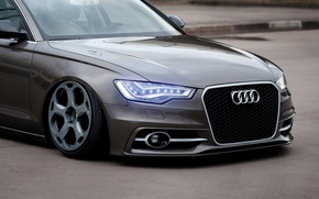 Picture Audi, Car, Front, Rings, Stance, Wheels, Ligth