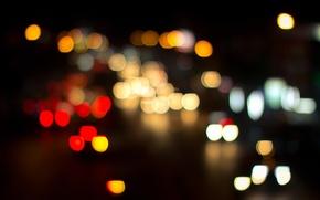 Wallpaper bokeh, night, the city, Bangkok, lights
