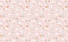 Picture background, holiday, toy, texture, art, sweets, Bunny