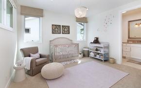 Picture design, carpet, chair, Design, children's, cot, Interior