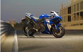 Picture blue, motorcycle, yamaha, bike, blue, Yamaha, supersport, yzf-r1
