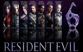 Picture game, Resident Evil, Resident Evil 6, Leon Scott Kennedy, Helena Harper, Chris Redfield, Jake, Sherry ...