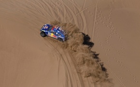 Picture Sand, Volkswagen, Traces, Touareg, Dakar, Competition, The view from the top
