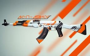 Picture AK-47|Asiimov, Valve, Weapons, Asiimov, Skin, Global Offensive, Workshop, Coridium, Weapon, CS:GO, Counter Strike, Gun, Steam
