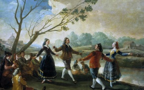 Picture people, picture, genre, Francisco Goya, Dancing on the Banks of the River Manzanares