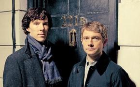 Picture Season 3, Martin Freeman, Benedict Cumberbatch, Sherlock, Sherlock, Sherlock Holmes, BBC One, season 3, Dr. …