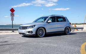 Picture volkswagen, sea, jdm, tuning, germany, low, stance, tiguan