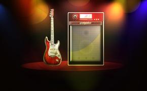 Picture music, scene, guitar
